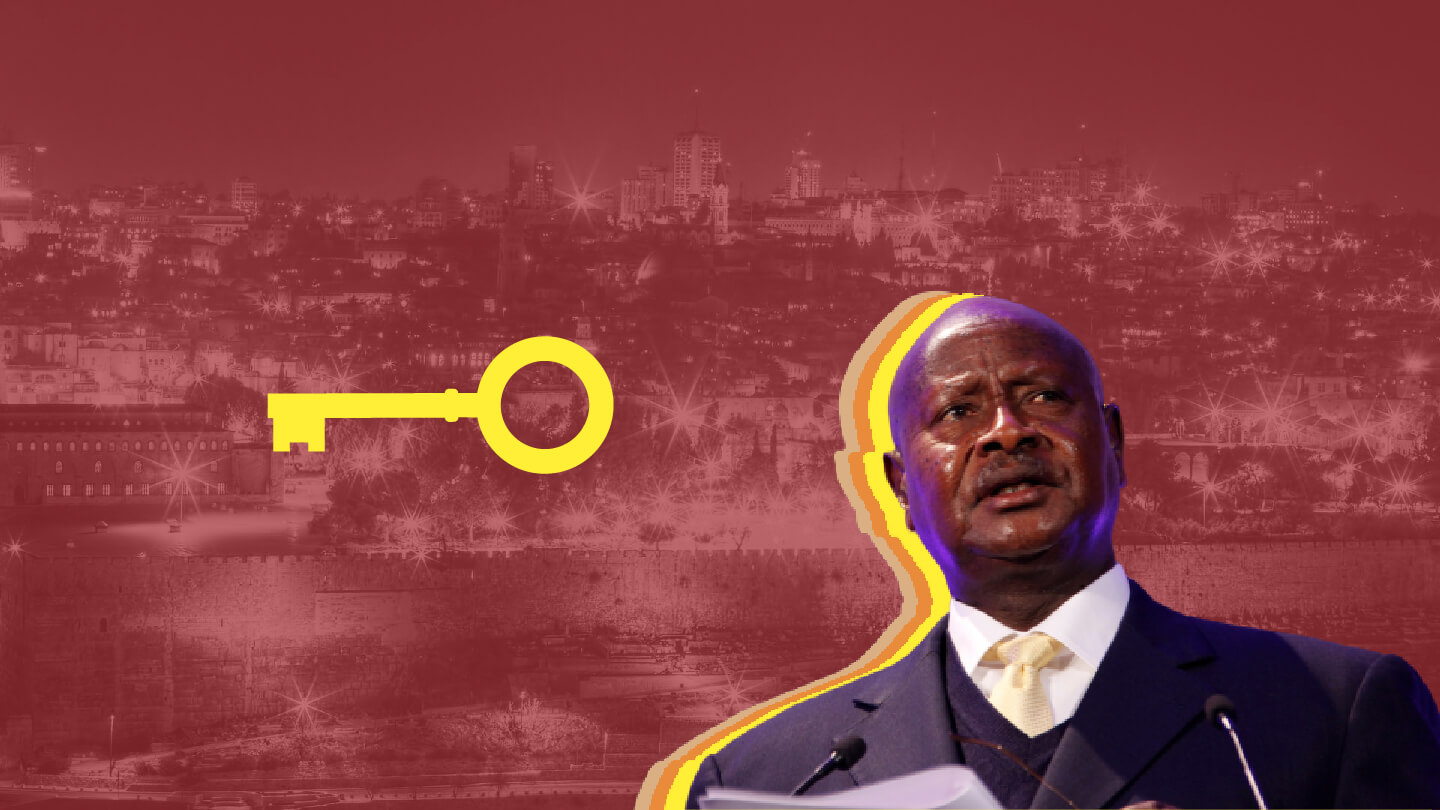 In this vision of Africa, then Ugandan President Museveni appeared with a key from Jerusalem.